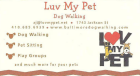 Luv My Pet, dog walking, pet sitting, play groups